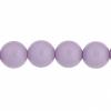Czech Glass Beads 8In Strand 8mm (22pcs) Lavender Fog